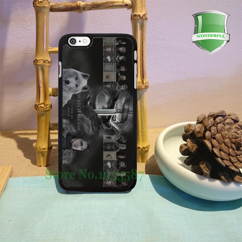 jon snow of the nights watch game of thrones original black cell phone case for iphone 6 6 plus 6s 6splus 5 5s 5c 4 4s W-1806(China (Mainland))