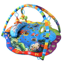 Educational Baby Ocean World Play Mat Pad Developing Kids Tapete Infantil Child Playmat Baby Gym Music Atividades Mat Toy215110(China (Mainland))
