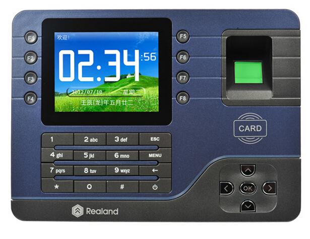 "Free Ship,biometric fingerprint, Realand 3.5"" Color TFT color Screen, Fingerprint & em card, TCP/IP,USB sn: A-C091"