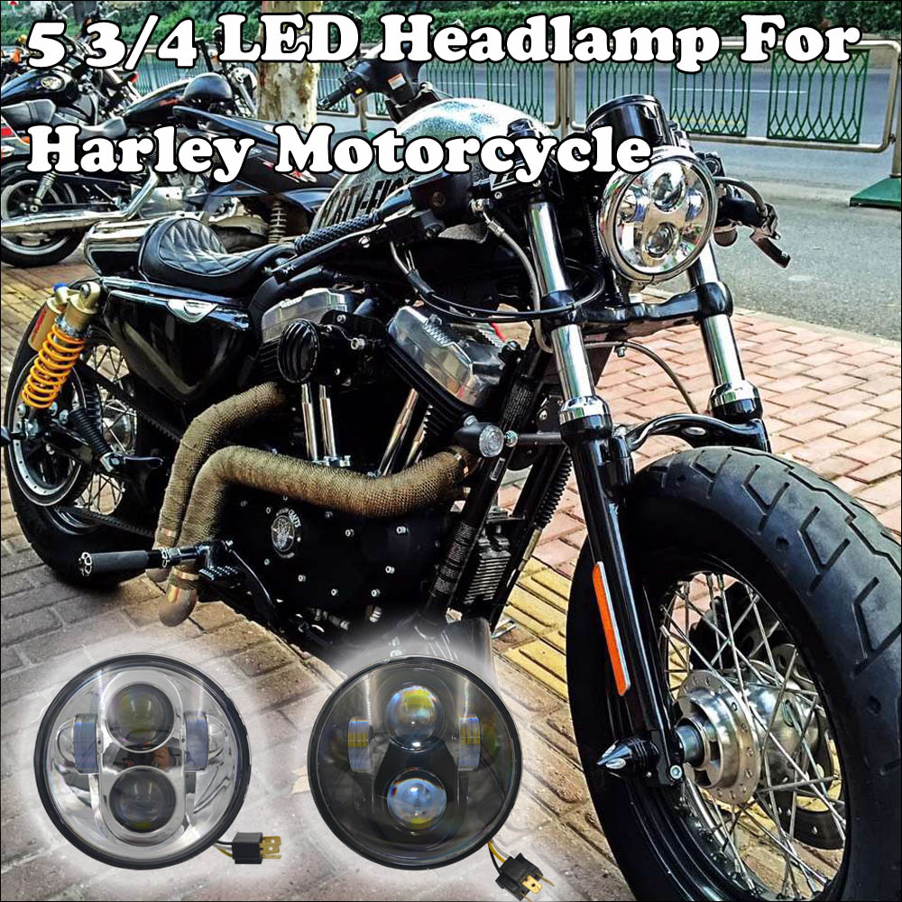 "1pcs X 5.75"" Round LED Headlight harley 5 3/4""Daymaker Projector LED Headlight Bulbs Fits Harley Dyan Motorcycle(China (Mainland))"