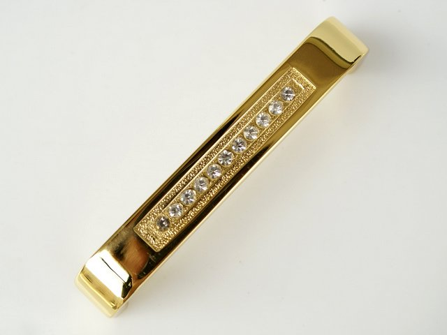 Gold metal Kitchen Cabinet /Clear Crystal Handle With Zinc Alloy 6318-96 C.C: 96mm, L:104mm(China (Mainland))
