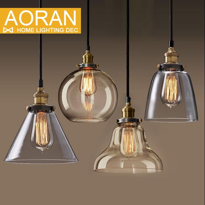 Copper Pendant Wall Lights : Light bulb pendant light copper glass restaurant pendant light single pendant light vintage ...