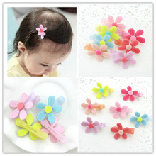 10pcs Top Selling Plastic Flower Kids Hair Clips BB Duck Barrettes Baby Girl Hairpin Enfants Toddler Cute Headwear Accessories
