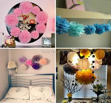 """10pcs/set  27 colors Wedding Decorative 25cm(10"""")Props Supplies Tissue Paper Pom Poms Wedding Party Festival Decoration(China (Mainland))"""