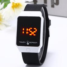 High quality LED children watch touch screen rectangle watches men s watch 24 hours standard calendar