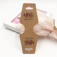 30 pçs/lote 12x4.5 cm Simétrico Colar Pingentes Cartões Impressão Flores Coração Colorido de Papelão Para Embalagem De Jóias Bijuterias(China)