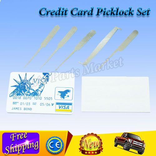Best Price Credit Card Lock Pick Set Lockpicks Free Shipping(China (Mainland))