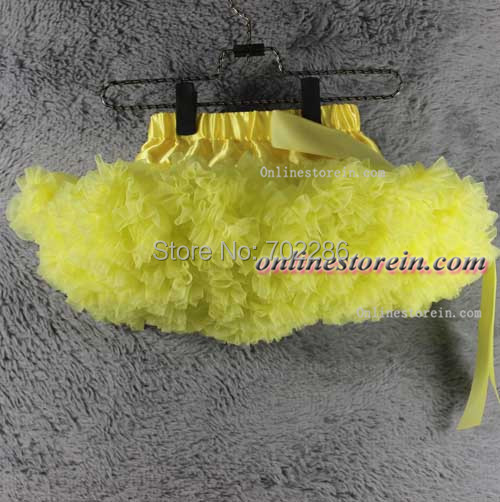 Wholesale toddler pleated solid light yellow baby girls pettiskirts birthday gift for kids<br><br>Aliexpress