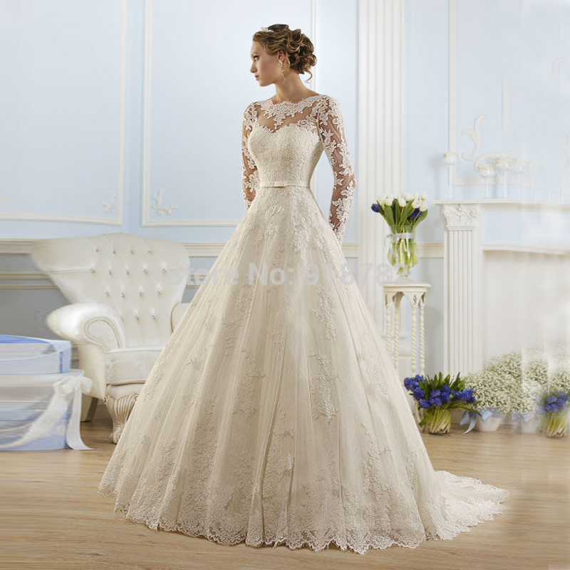 2016 hot sale beautiful lace wedding dresses cheap a line for Wedding dress for sale cheap
