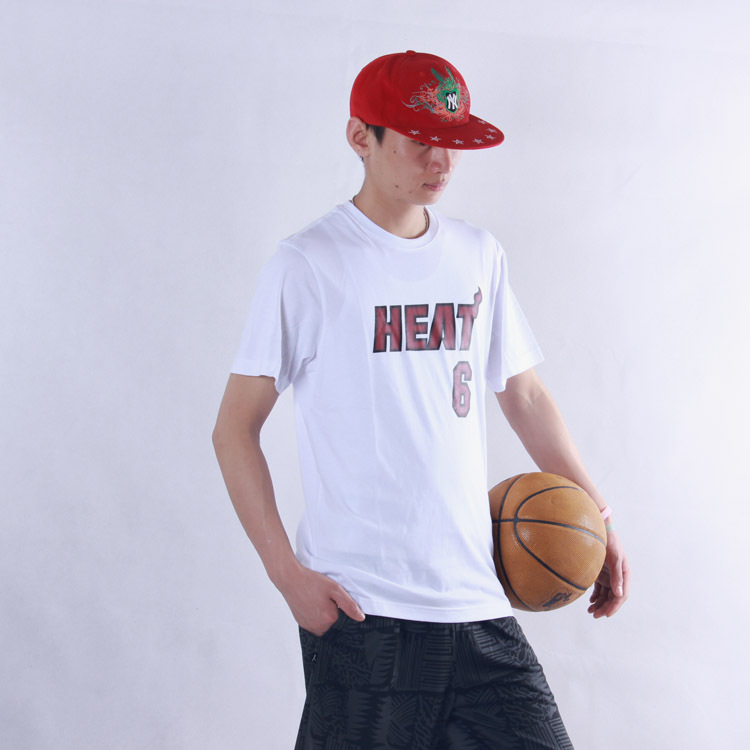HOT 2016 Brand Athletic James Short Sleeve T-shirt 6 Sport Basketball T Shirt Player Loose Cotton Casual Absorb Sweat Knitt(China (Mainland))