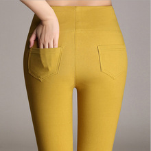 2016 Fashion Women Pencil Pants Candy Color High elasticity Female Skinny pants High quality trousers Leggings(China (Mainland))