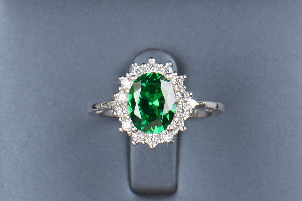 2.5CT Real Solid 925 Sterling Silver Ring Princess Royal style Sapphire/Emerald Jewelry Brand Wedding Engagement Silver Rings