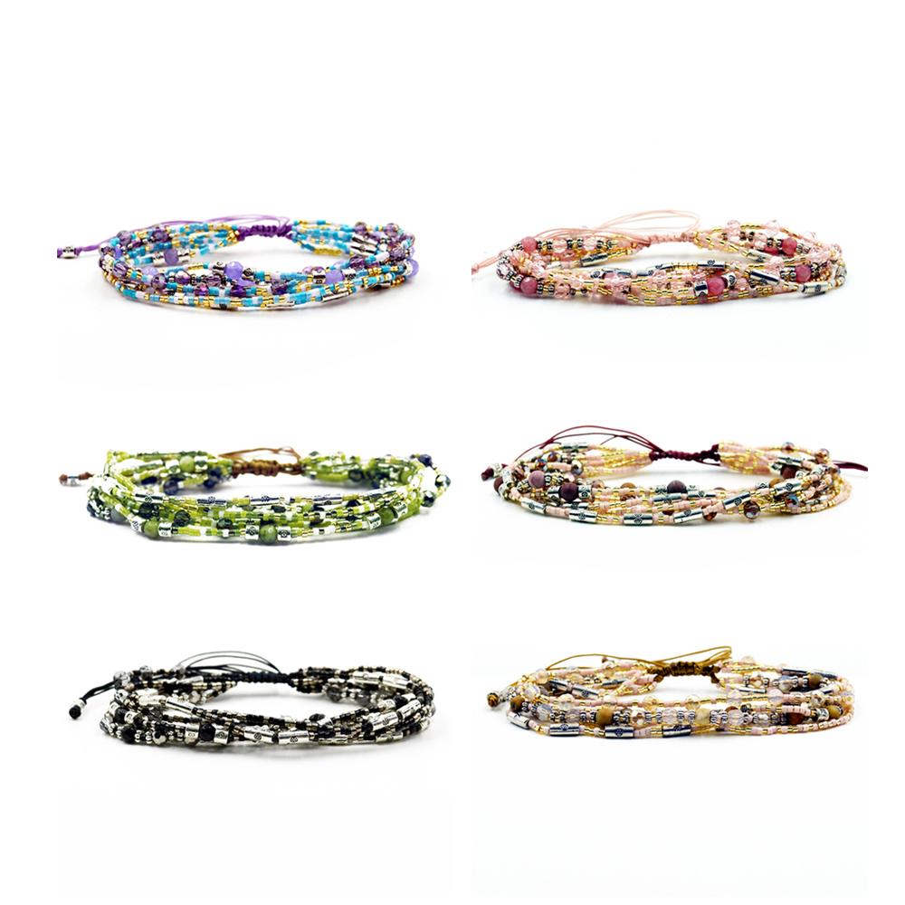 Bracelets Women Bracelet Handmade Diy Crystal Jewelry Pulseras Feminina Joyeria Femme Bijoux Bohemian Boho Friendship Beads Gift(China (Mainland))