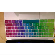 Rainbow Silicone Laptop keyboard Skin Protector Cover Protective Film Guard 2016 new for Apple Macbook Mac Air 12″ 12 Inch US