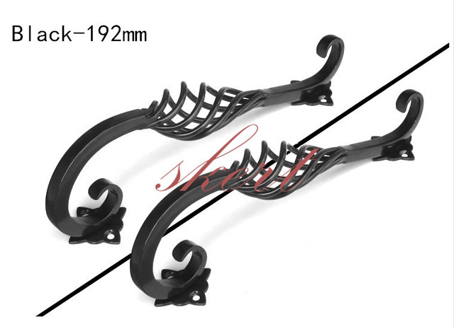 Free Shipping 2pcs 192mm Black Iron Birdcage Cabinet Handles Kitchen Closet Pulls Unique Pull Black Drawer Knobs Dresser Knob