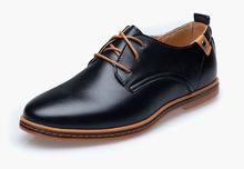 2016 homens Sapatos de couro genuíno Oxfords homens europeus de moda tamanho grande vestido Shoes Loafers Sapatos masculinos Lace Up Casual Sapatos Flats