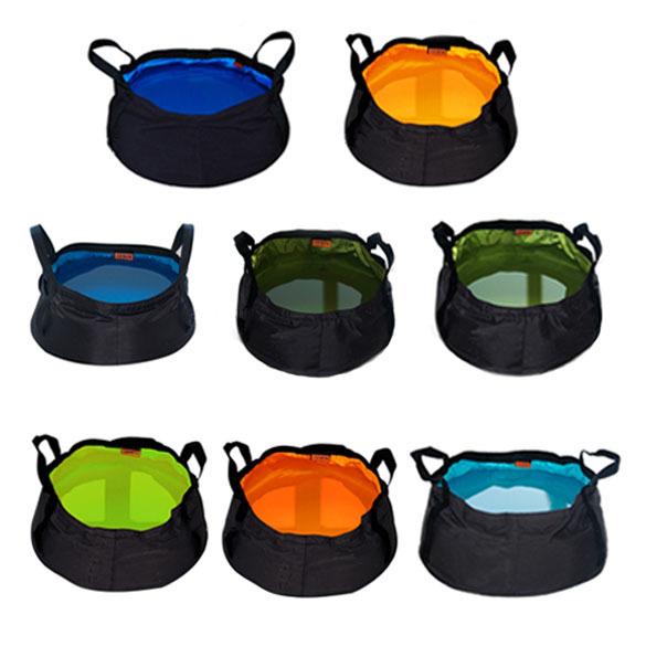High Quanlity 8.5L Outdoor Hiking Camping Folding Washing Basin Bucket Portable Water Pot H1E1(China (Mainland))