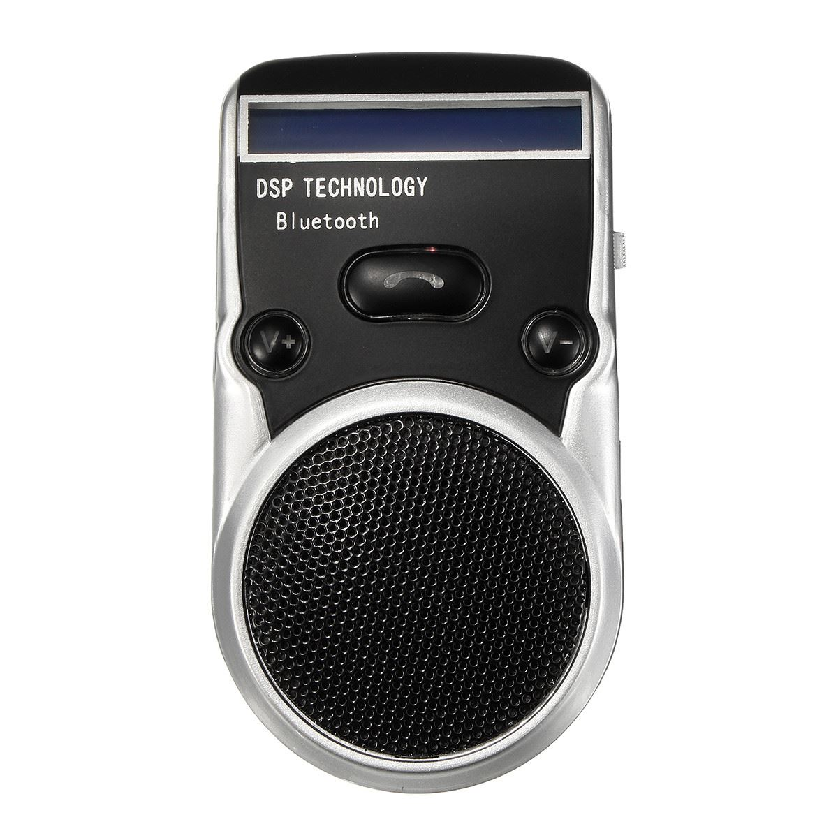 High Quality Solar Powered Bluetooth Handsfree Car Kit Digtal LCD Speaker With Microphone For Mobile Phones Dial(China (Mainland))