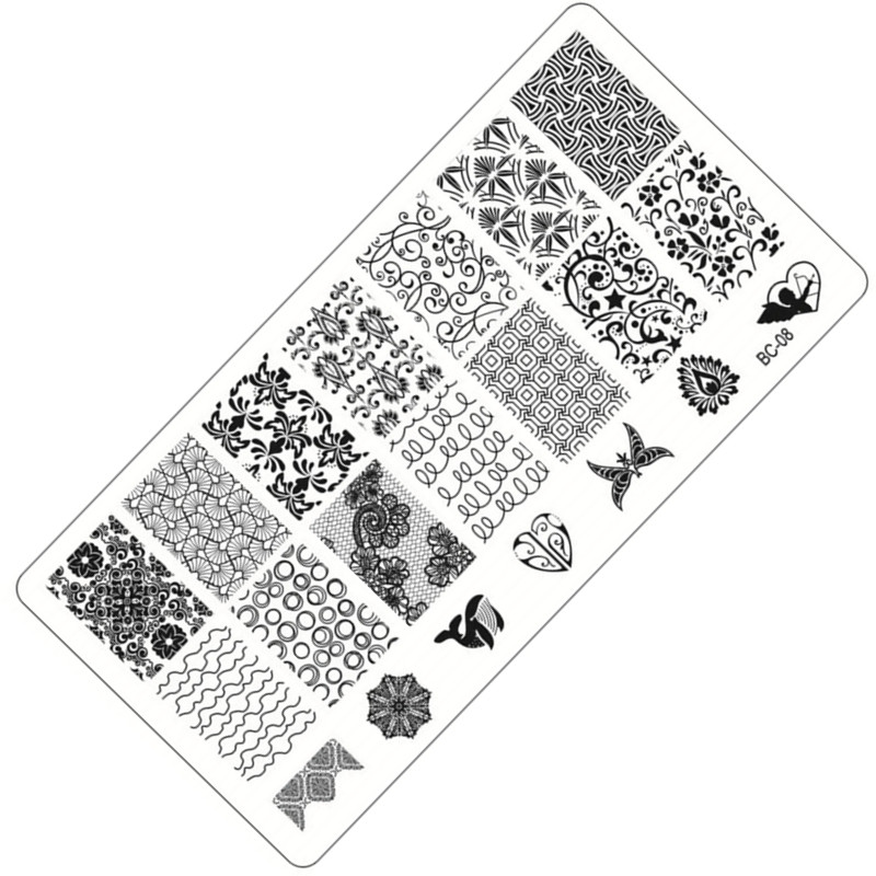 1 Sheet Lace Flowers Series Stamping Nail Art Image Plate 6 12cm Stainless Steel Template Polish