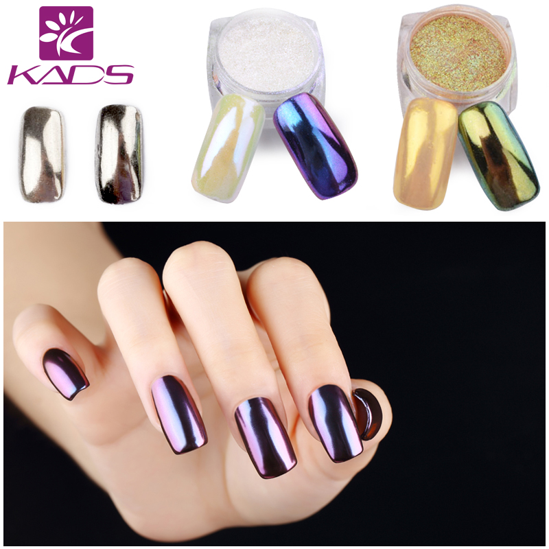 KADS 1g/pot 5 Colors Shining Mirror Nail Glitter Powder Attractive Nail Art Chrome Pigment Glitters Dust Nail Art Decorations(China (Mainland))