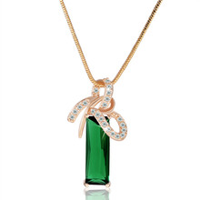 MOLIAM Fashion Costume Jewelry Women Elegant Rhinestone Necklace 18K Gold/White Gold Plated Pendants with Free Chain P017,P018(China (Mainland))