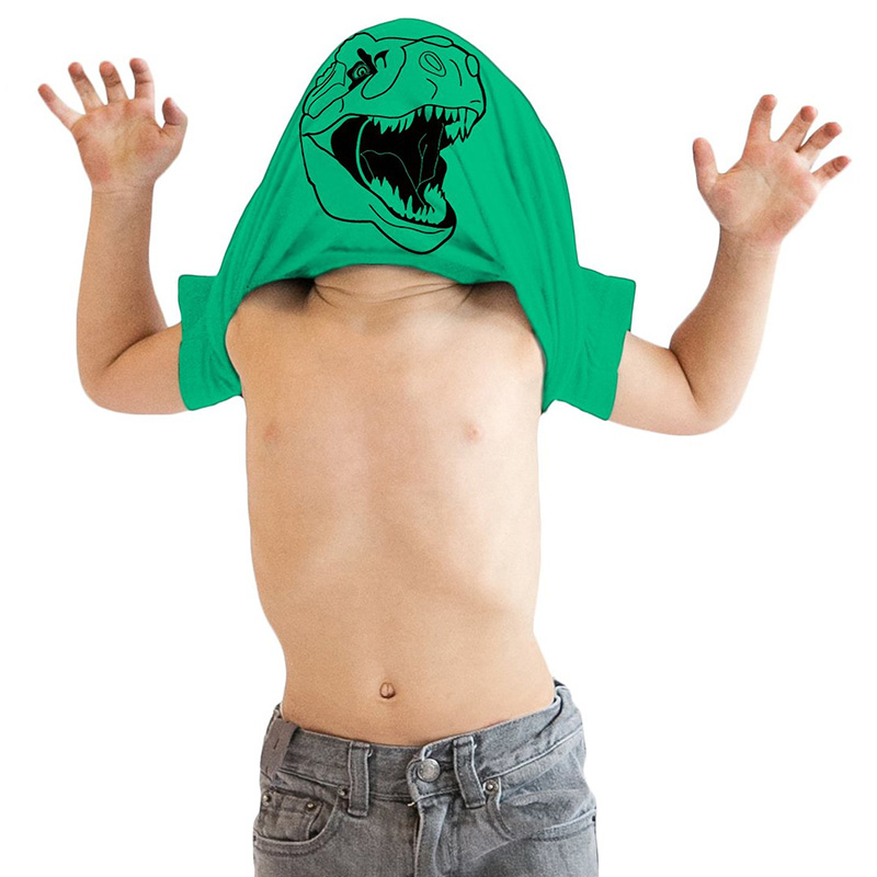 Гаджет  Children Boys Funny T shirt Awesome Dinosaur Kids Fun Tee None Детские товары