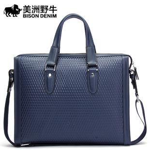 hot sell famous brand design leather men bag casual business leather mens messenger bag vintage fashion mens cross body bag 1