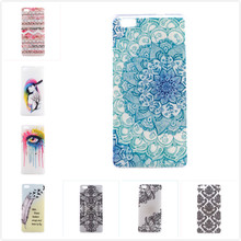 Ultra Thin Transparent Colorful Eye Girl Soft TPU Clear Case Cover For Huawei Ascend P8Lite P8 lite P8 Mini Silicone Phone Shell