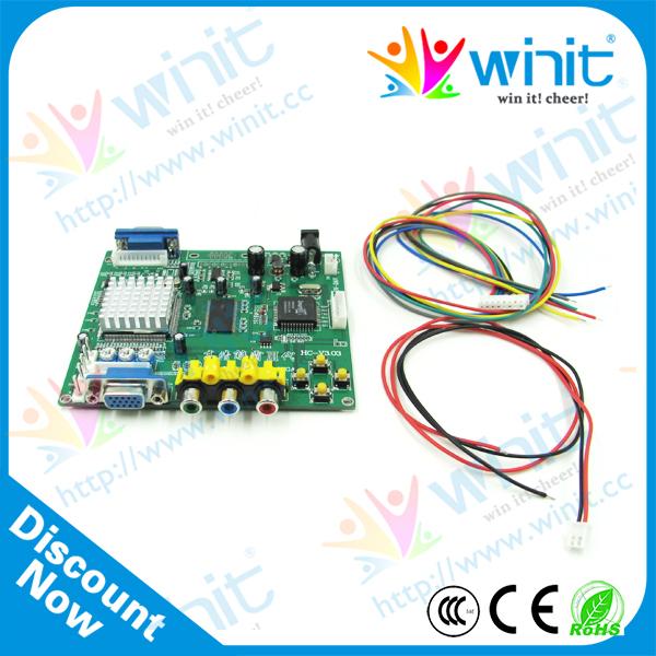 RGB CGA EGA YUV RGBS RGBHV YPbPr Ycbcr Input to CRT LCD PDP PROJECT Monitor VGA Output Converter Game Machine Parts Arcade kits(China (Mainland))