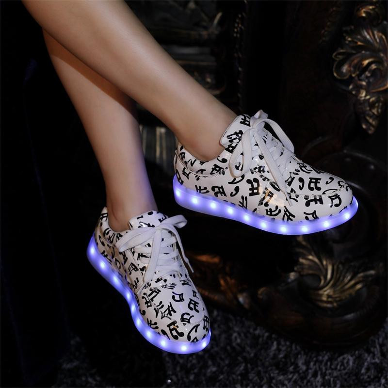 Beautiful Led Shoes For Adults Led Sneakers Size 36 44 Led Shoes Men Women
