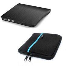 USB3.0 Blu-ray Player Bluray BD-ROM DVD RW Burner Escritor Unidade Óptica Externa para Macbook Computador Portátil + Unidade caso bolsa saco(China (Mainland))