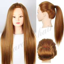 "22""Blonde Professional Styling Head ,Wig Head Stand Women Makeup Hairdressing Dummy Doll Training Head , Hair Mannequin Head"