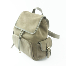2016 Teeinco Original Design Scrub Leather backpack vintage school style double shoulders bagLY-0141(China (Mainland))