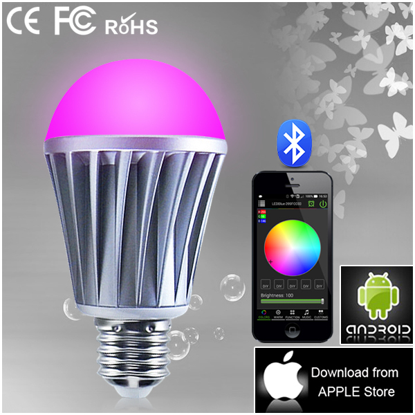 multi colors bluetooth connected led bulb lights eletric home appliances(China (Mainland))