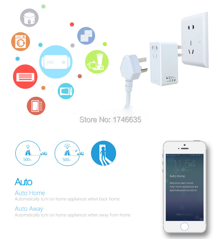 Broadlink Smart home SP Mini Smart Wireless Remote Control Socket, Wifi Plug+timer+extender time switch Home Automation(China (Mainland))
