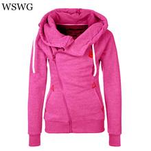 2016 Casual Sudaderas Mujer Women Hoody Autumn Winter Women Zipper Hoodies Thick Thicken hoody Women Sweatshirt Hoodies 60503(China (Mainland))