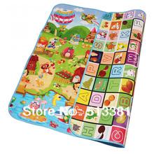 Free Shipping 14pcs/lot 1.0 thickness Baby Play Gym Mats(2.0M*1.8M*1.0CM,Double side)/Soft Baby Crawl Mats/Family Picnic Mats(China (Mainland))