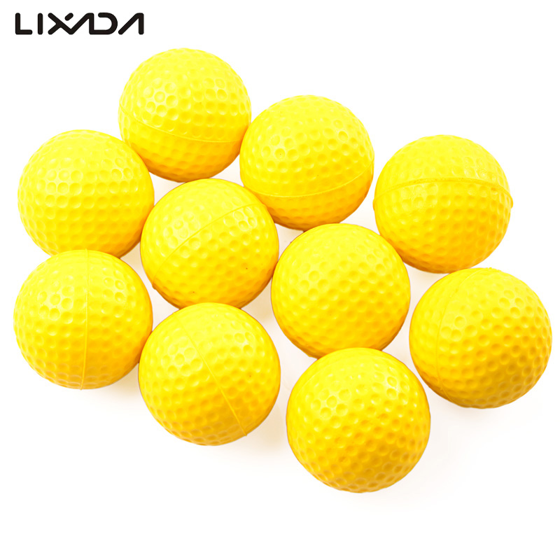 Practice Golf Balls 10 Goft Balls In Set For Beginner Indoor Outdoor Playing Training Color Yellow Macth Ball Tees Better(China (Mainland))