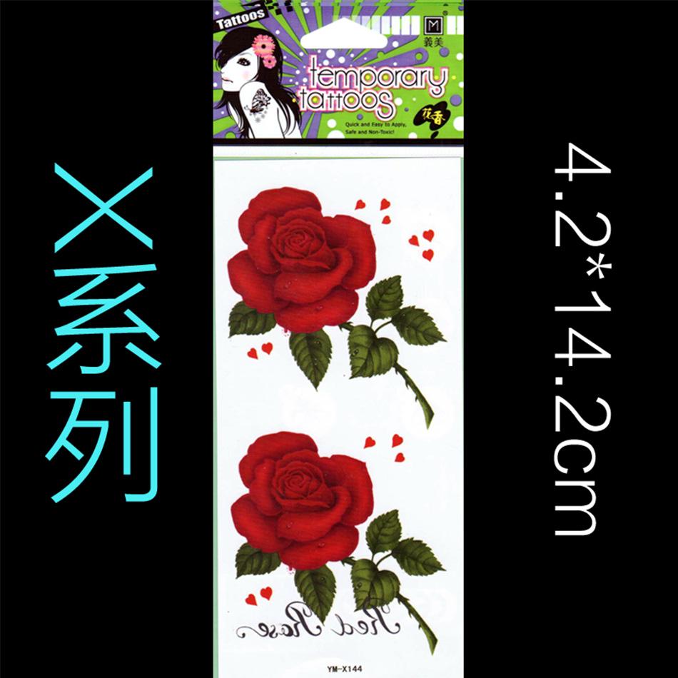10 pcs/Lot Hot Sexy Fake Tattoos One-time Temporary Tattoos Arm Flower Rose Tattoo Waterproof Female Body Art Tattoo 2016 New(China (Mainland))