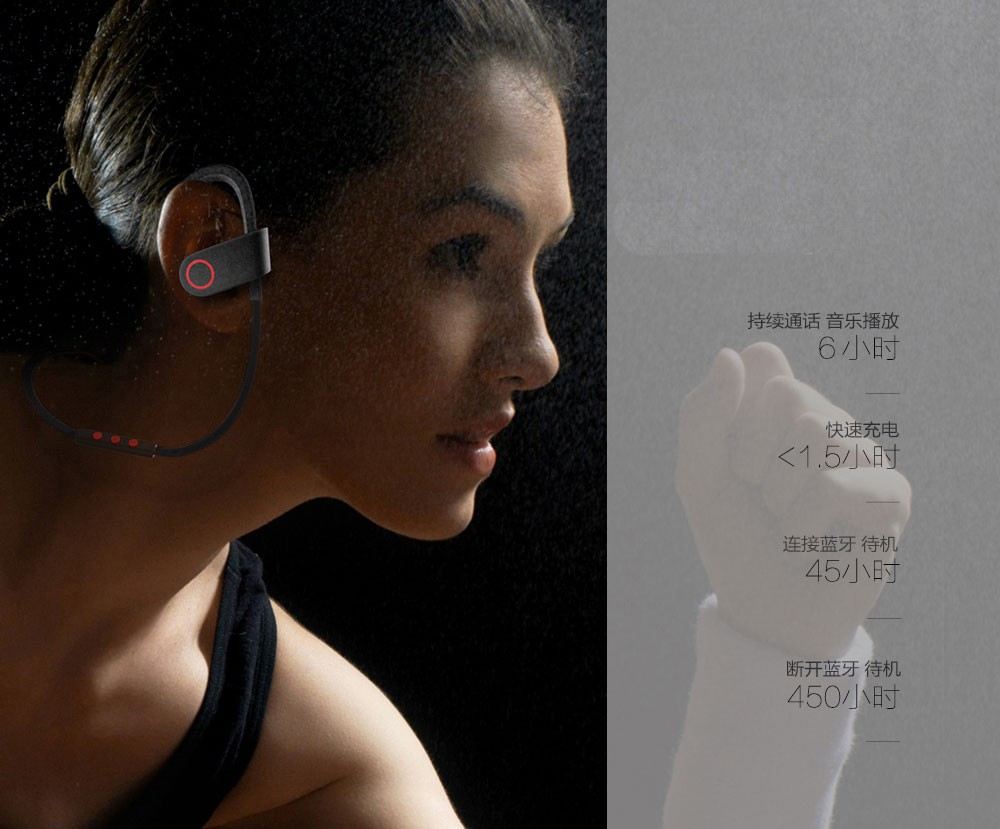 Original BH-01 Wireless Bluetooth Headset Earphone Stereo Bass Music Sport Handsfree with Mic for IOS Android Smartphone