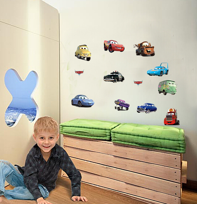 free shipping cheap removable diy cars wall stickers. Black Bedroom Furniture Sets. Home Design Ideas