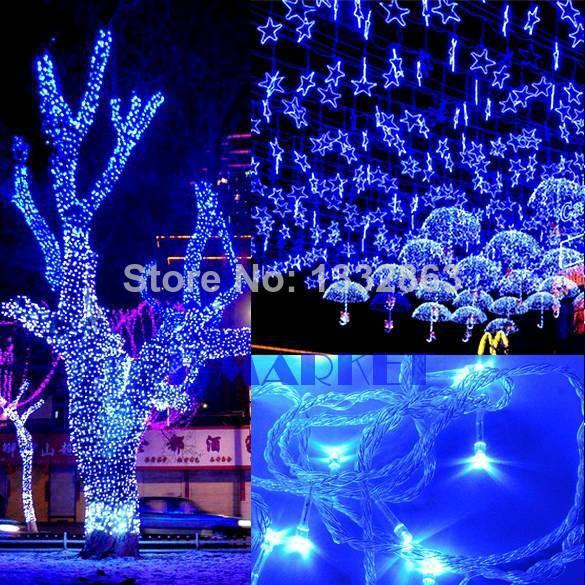 Гаджет  50M 300 LED Blue Lights Decorative Wed Christmas Twinkle String Lighting EU ES9P TK0585 None Свет и освещение
