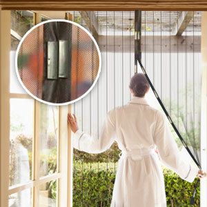 Free shipping Magic Screen Door Curtain Magic Magnetic Mesh anti Mosquito Bug Divider door Curtain OPP Bag package(China (Mainland))