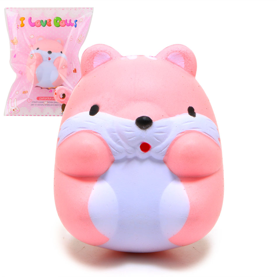 New Arrived 8CM Jumbo Cute Hamster Mouse Squishy Slow Rising Sweet Scented Soft Doll Phone Strap(China (Mainland))