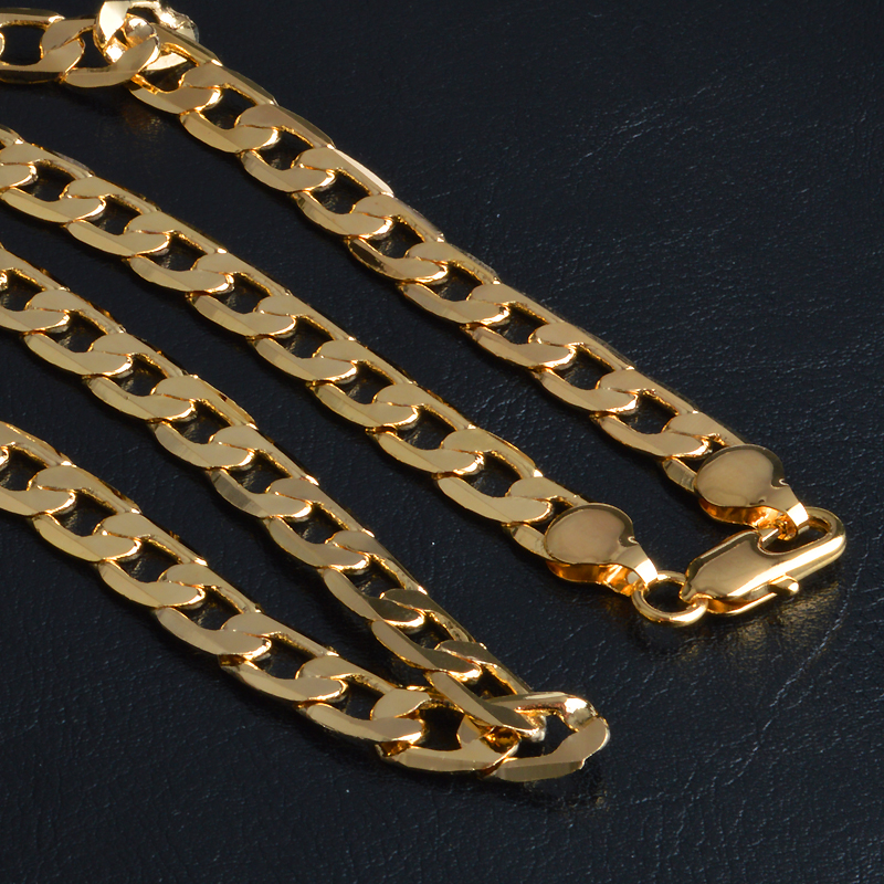 Hot Fashion Men's 18K Yellow Gold Plated Chain Necklace Jewelry(China (Mainland))