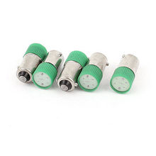5 Pcs 10mm Round Head Green LED Bulb Light Signal Indicator Lamp AC 220V/240V 3A(China (Mainland))