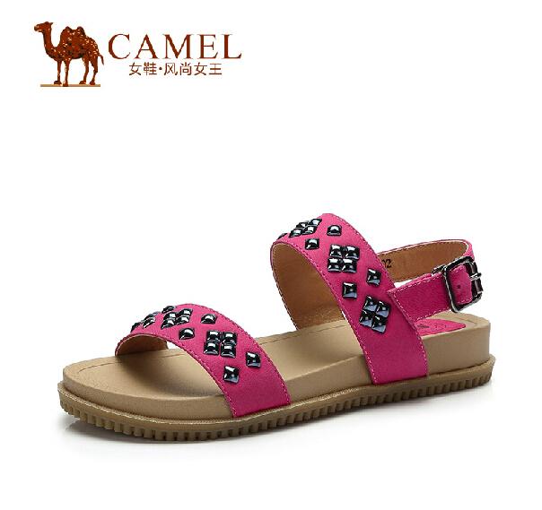 Фотография Camel Ladies Sandals 2015 Summer Sheepskin Comfortable Sandals shoes A52037602