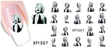 1 Pcs Fashion Girl Design New Arrival Water Transfer Nail Art Stickers Decal Free Shipping
