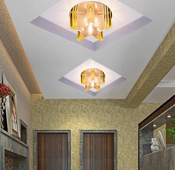 Air star lights begin aisle lights led crystal lamp lights entrance corridor lights Ceiling Lighting creative living room<br><br>Aliexpress