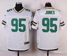 Green Bay Packers #87 Jordy Nelson #52 Clay Matthews #27 Eddie Lacy Elite White and Green Team Color free shipping(China (Mainland))
